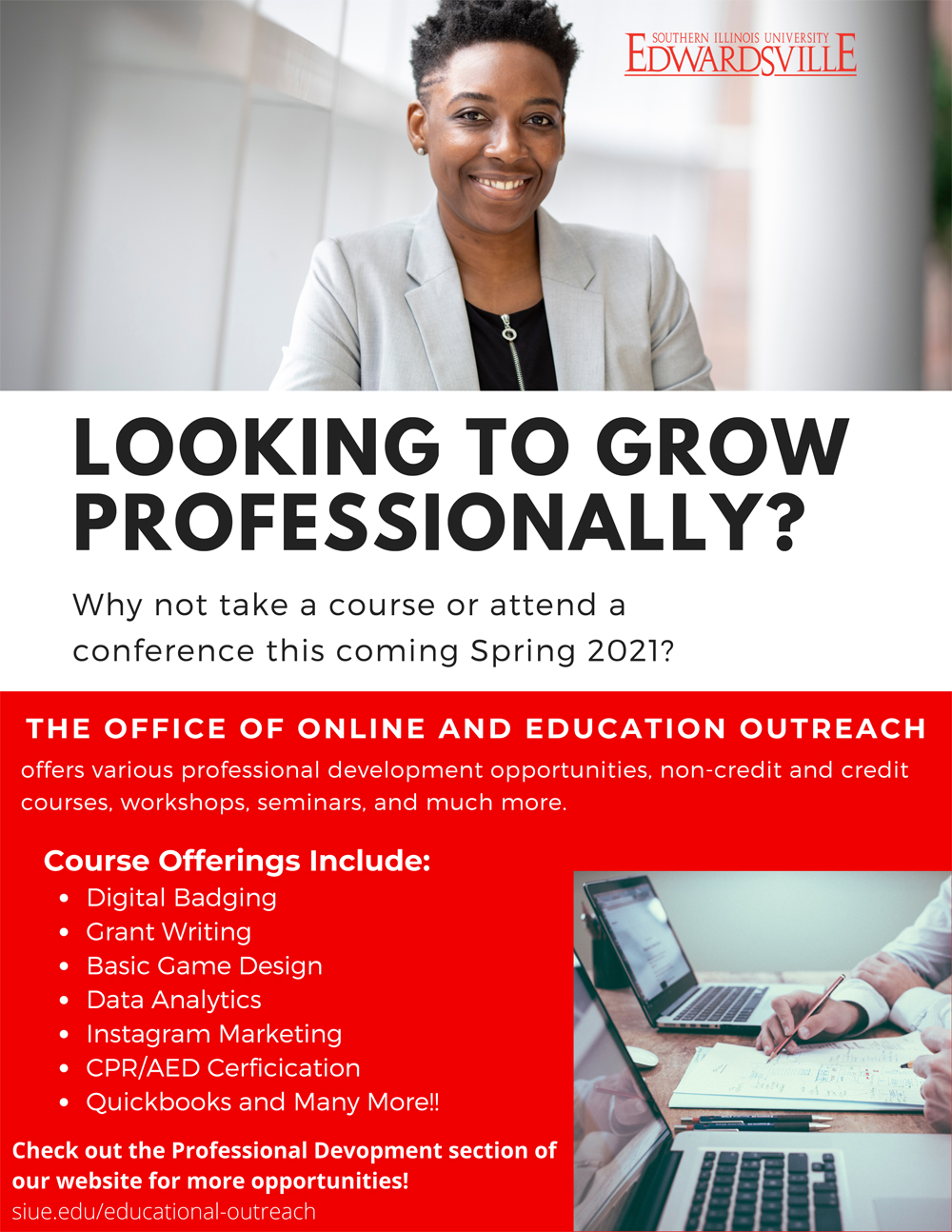 SIUE OEO Professional Development Flyer