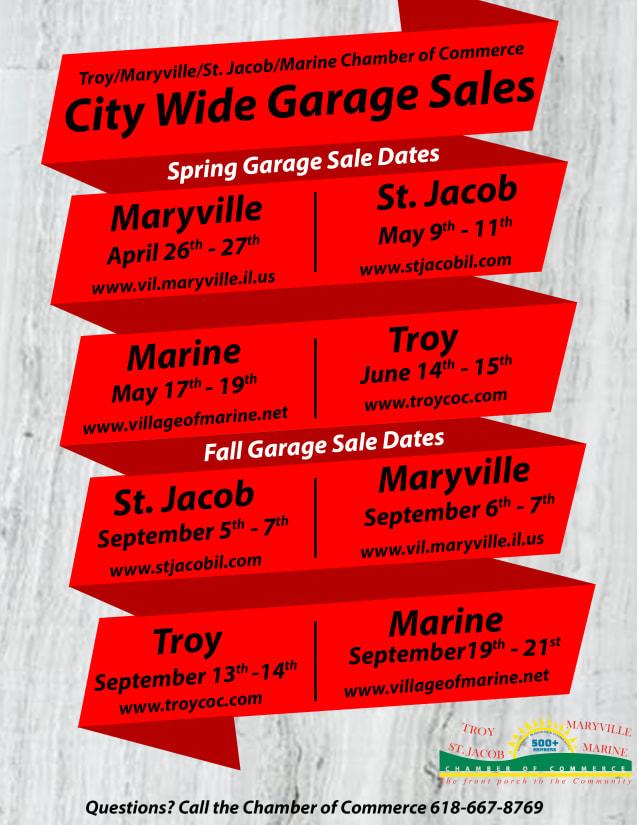 City Wide Garage Sales - Troy/Maryville/St  Jacob/Marine