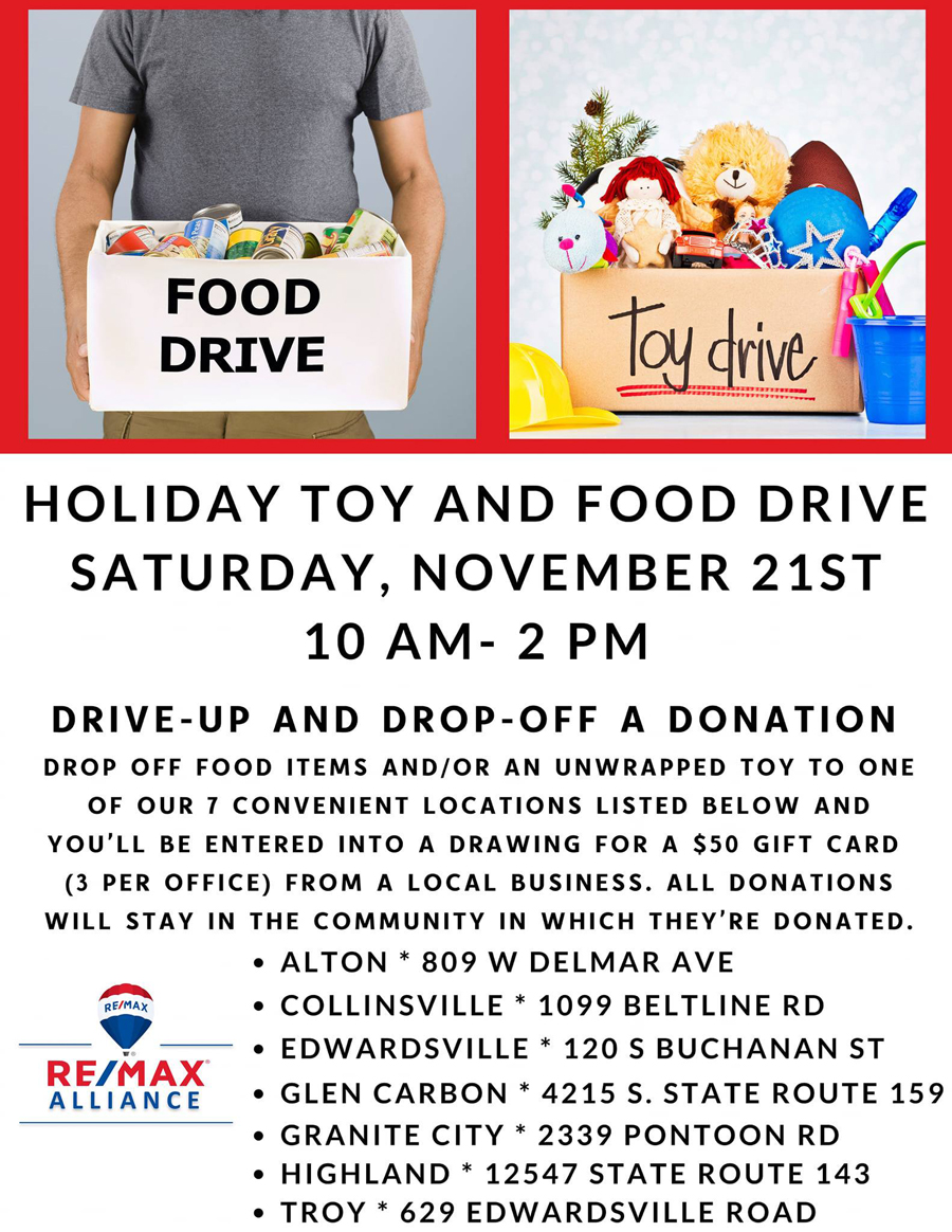 ReMax Alliance Holiday Toy and Food Drive