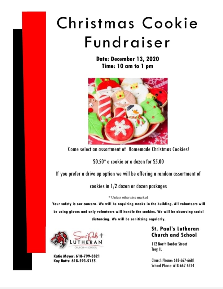 St Paul's Lutheran Church and School Christmas Cookie Fundraiser