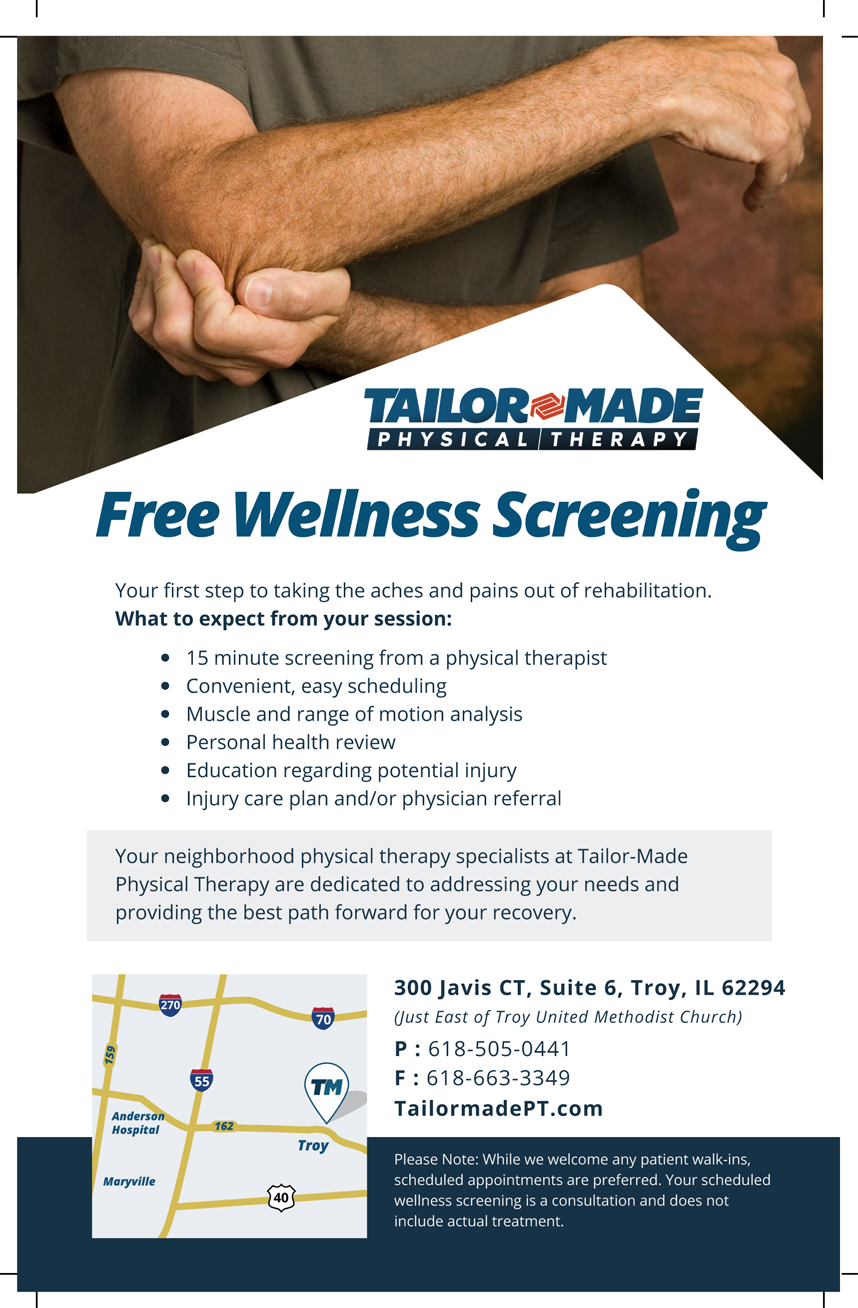 Tailor-Made Physical Therapy Free Wellness Screening