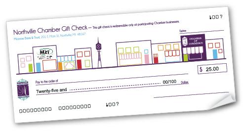 Gift Check Program - Northville Chamber of Commerce, MI