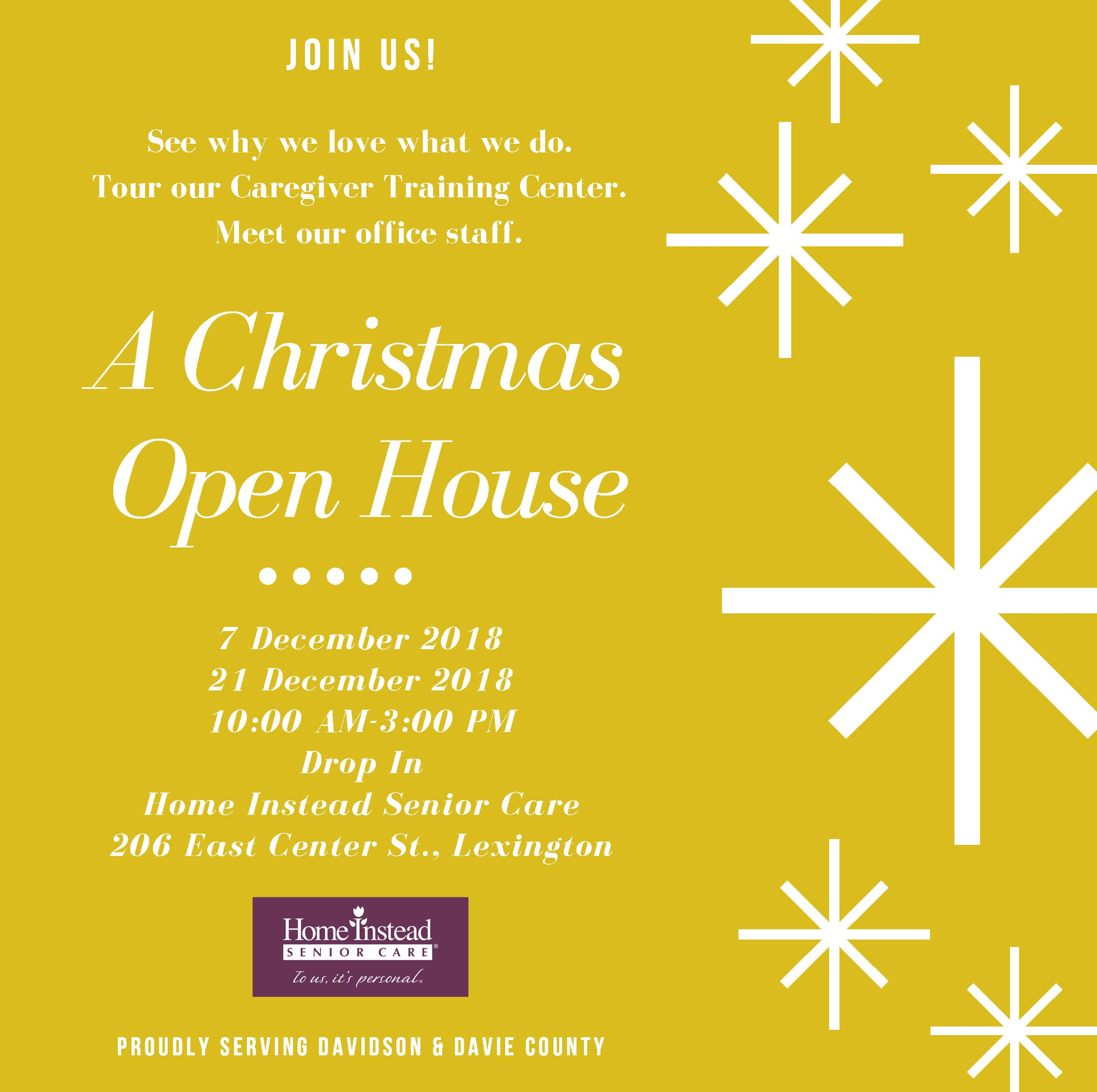 Home Instead Senior Care Christmas Open House