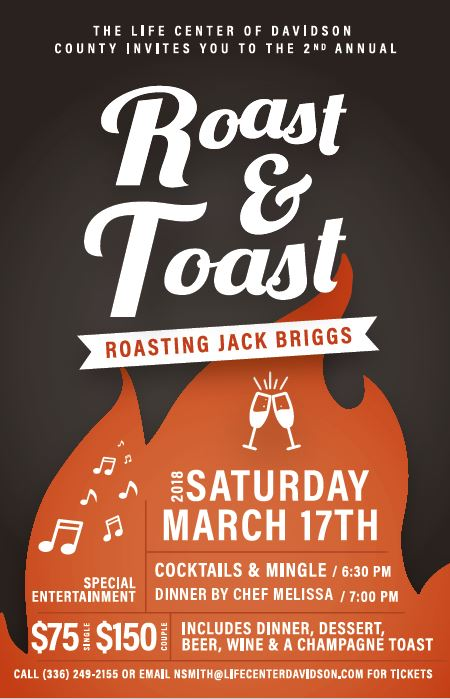 2018 Roast Toast Hosted By The Life Center Of Davidson County