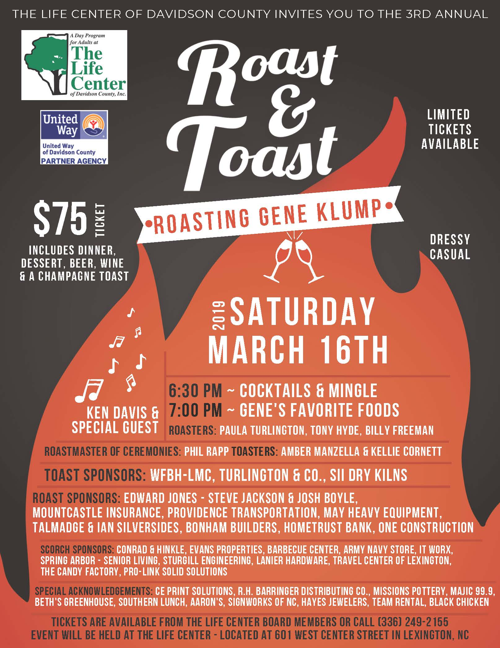 Roast & Toast hosted by The Life Center of Davidson County
