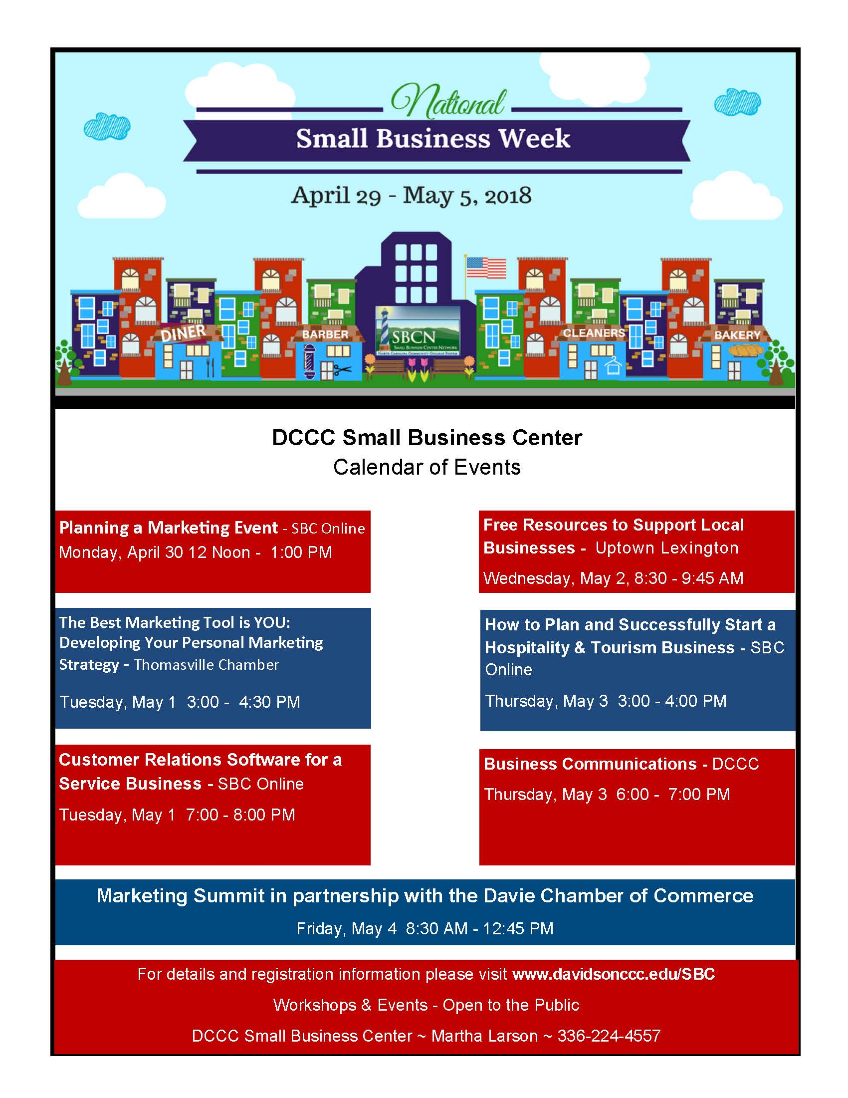 small business week dccc small business center calendar of events
