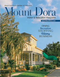 Mount Dora Visitor and Relocation Magazine