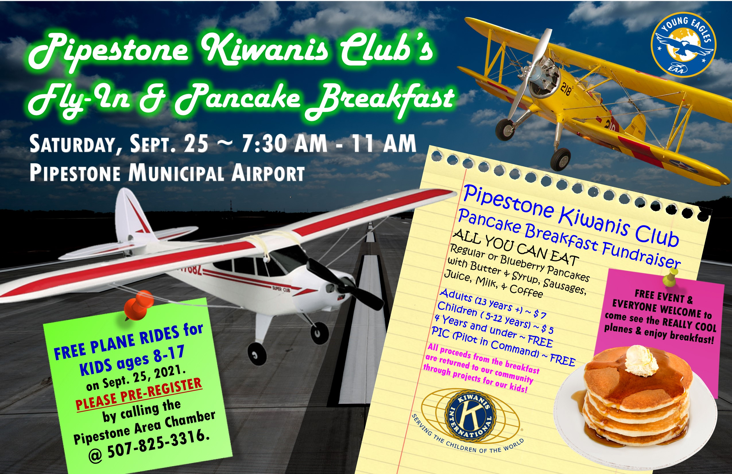 Fly-In Breakfast & Plane Rides for Kids flyer