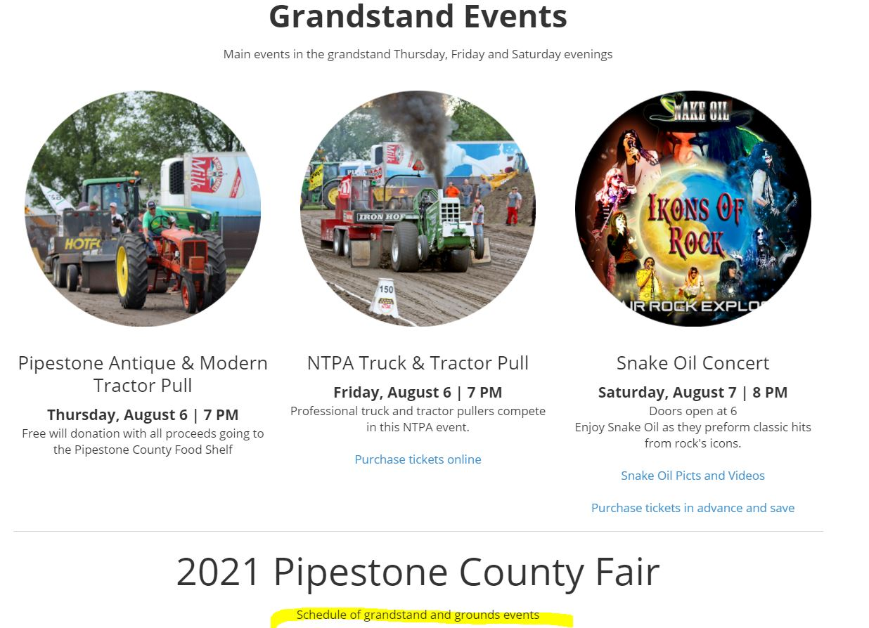 Link to 2021 Schedule of Events