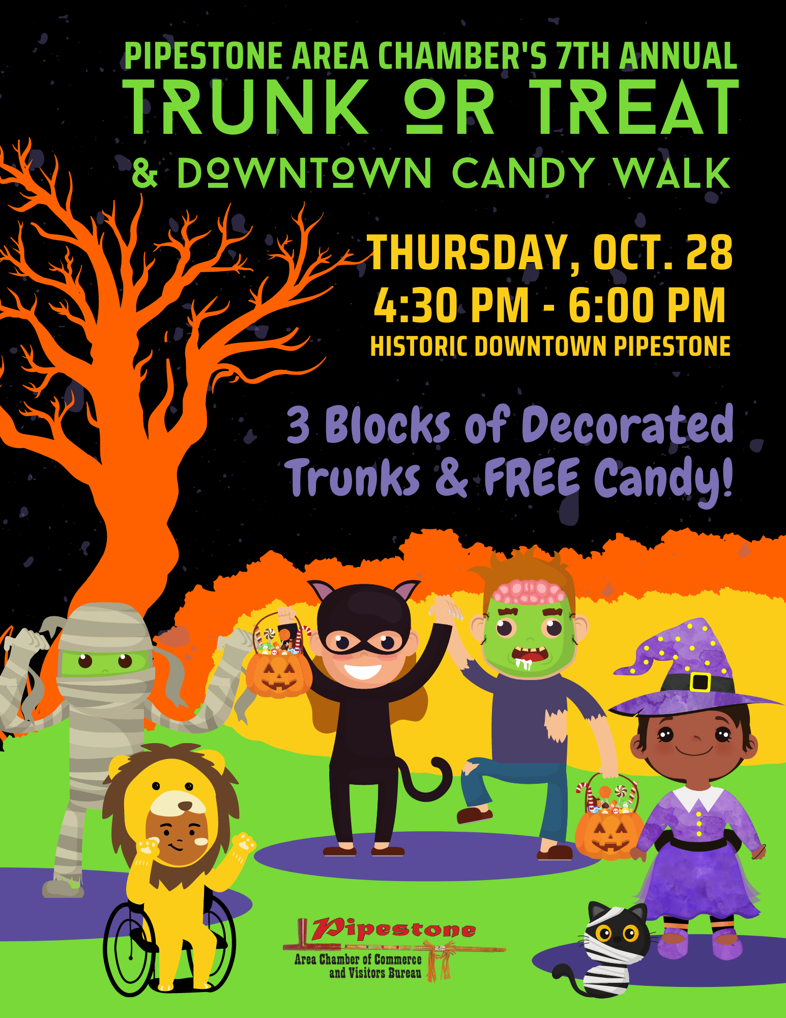 7th Annual Trunk or Treat & Downtown Candy Walk