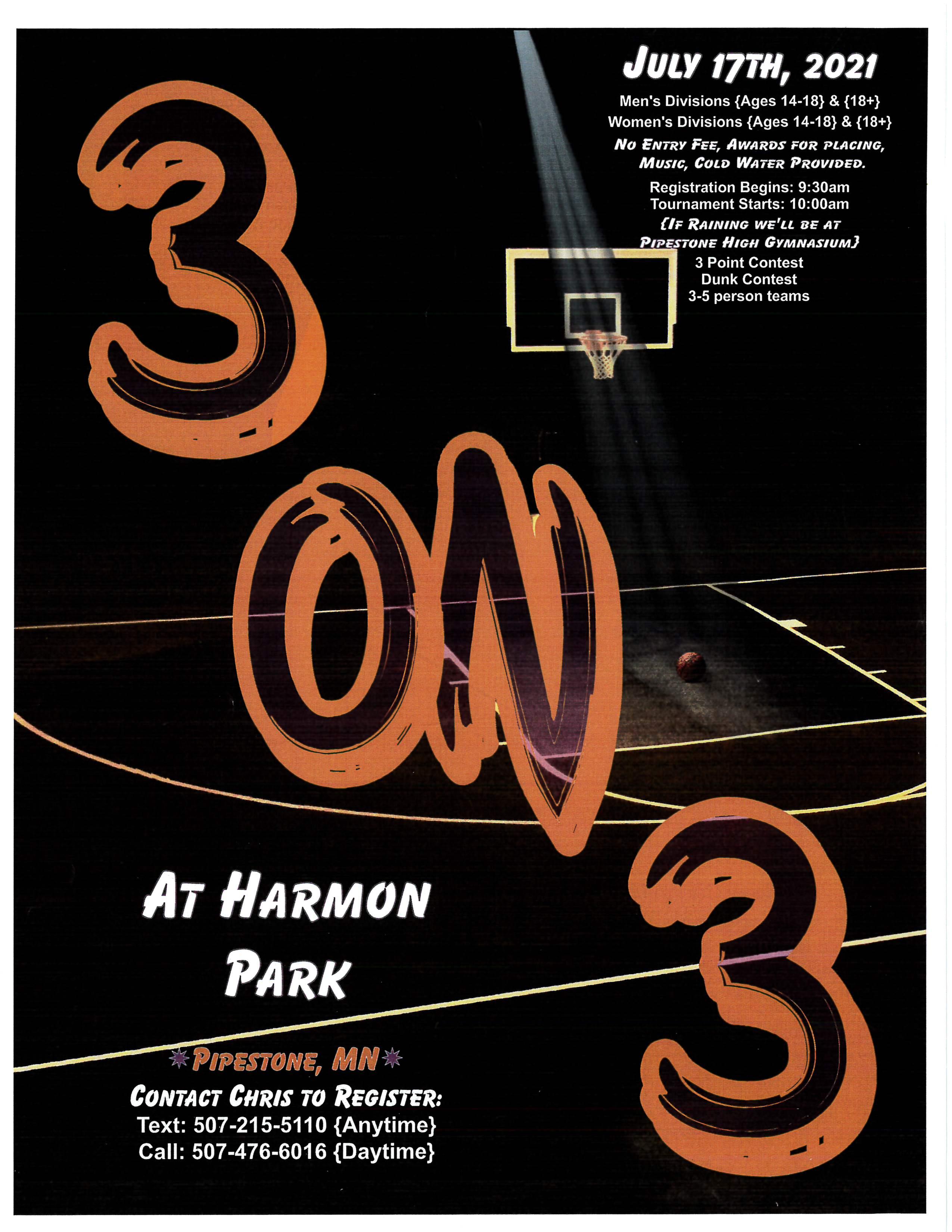 3 on 3 Basketball Tournament at Harmon Park
