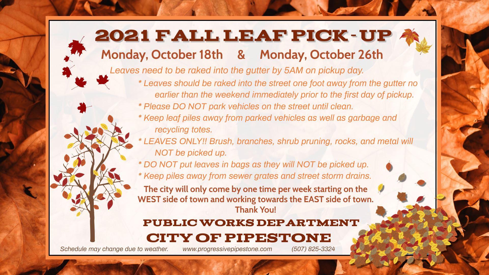 Fall Leaf Pick Up Flyer