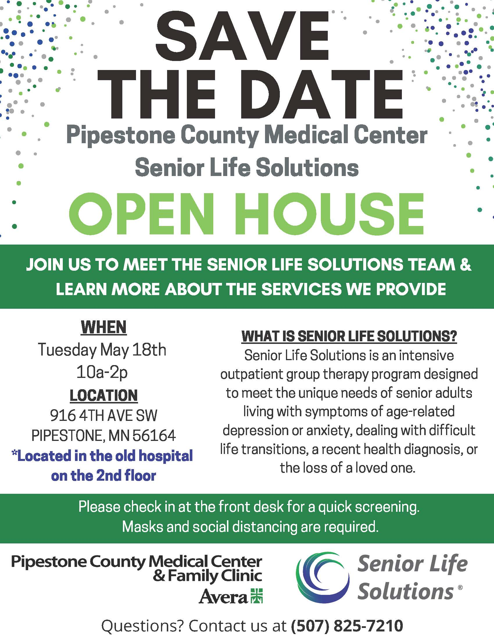 Save The Date Open House Flyer