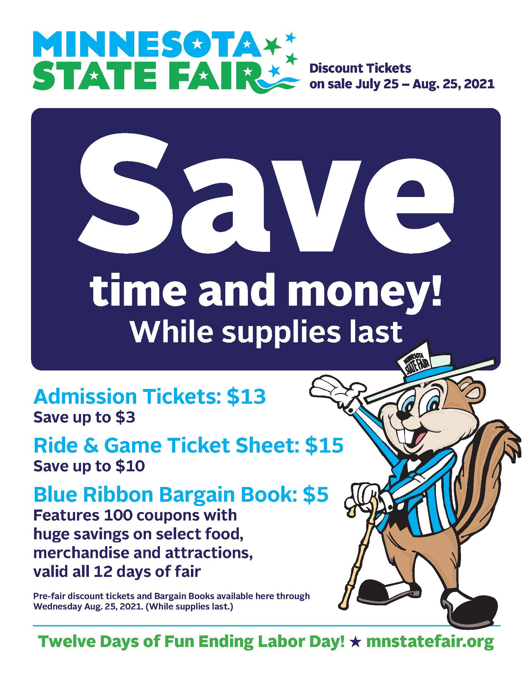 Pre-Sale MN State Fair Tickets Available