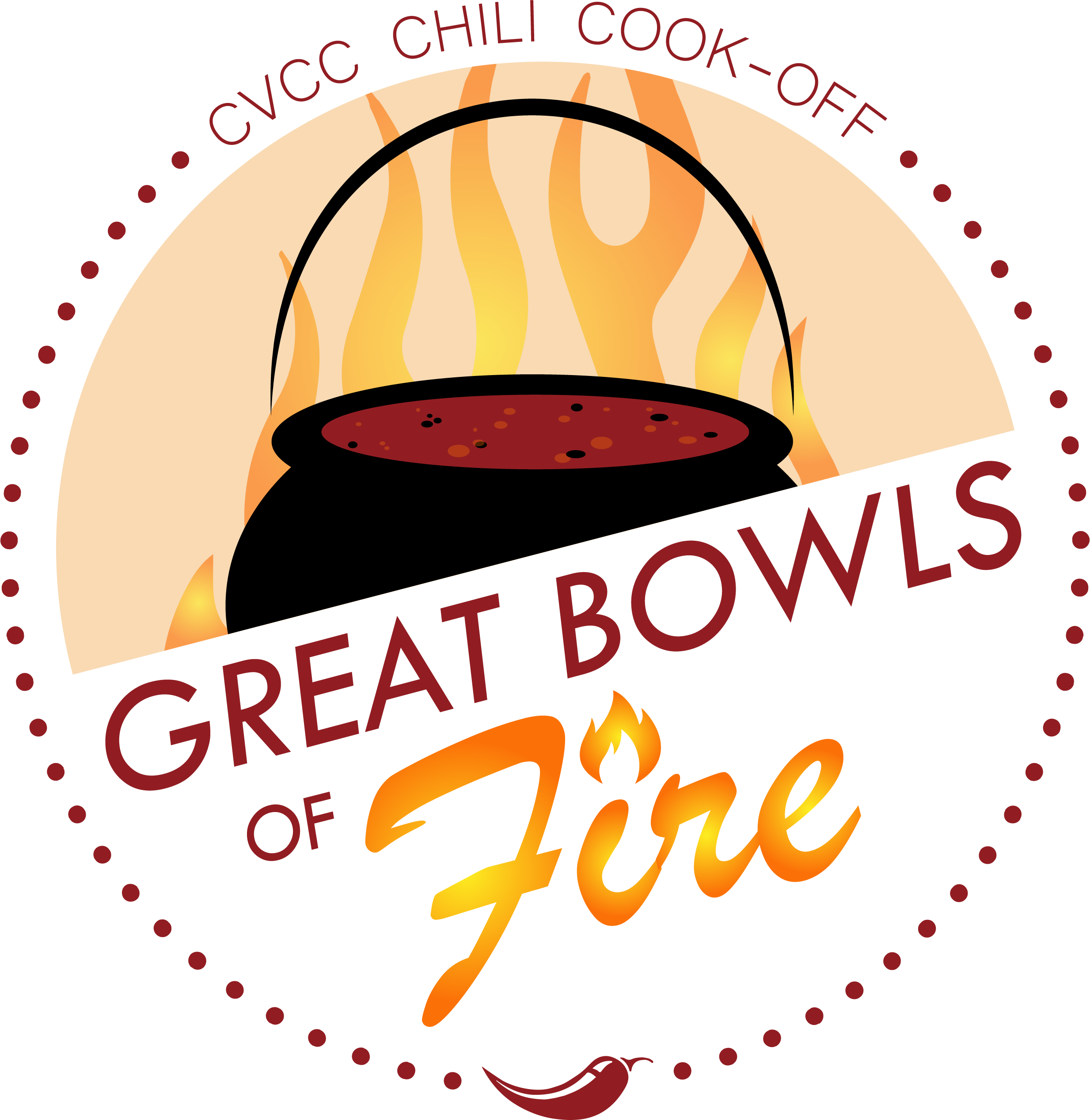 Great Bowls of Fire logo with graphic chili bowl