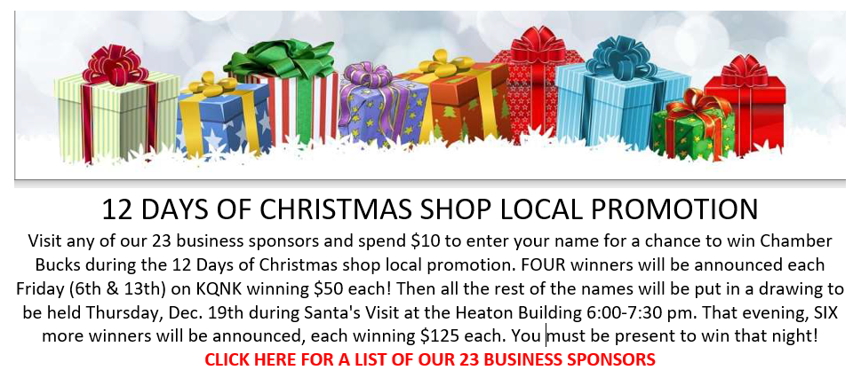 12 Days of Christmas Norton KS Business Sponsors