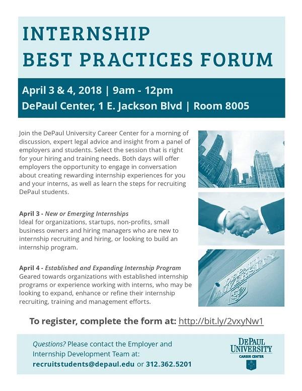 DePaul University's Internship Best Practices Forum