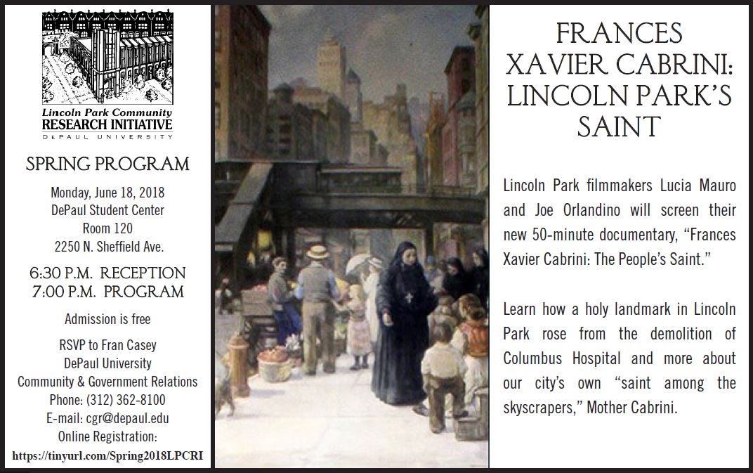 Lincoln Park Community Research Initiative Presents Frances
