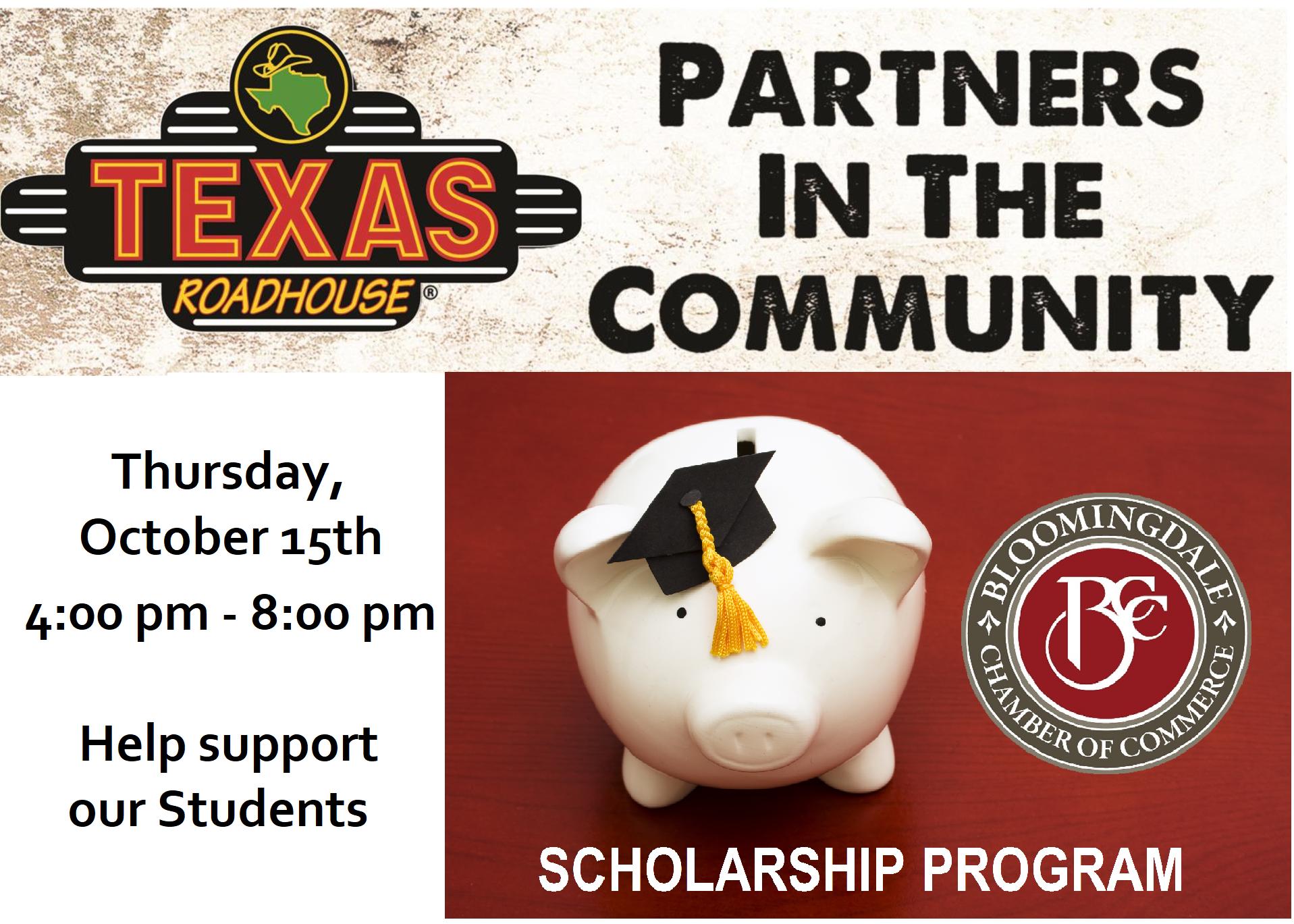 Scholarship Fundraiser at Texas Roadhouse