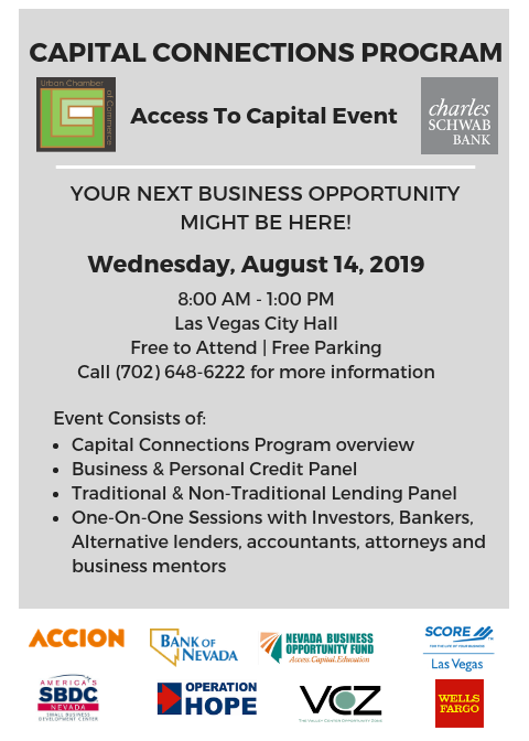 Urban Chamber of Commerce Coffee and Commerce. Wednesday, July 10, 2019 9-10:30AM at  Urban Chamber of Commerce, 1951 Stella Lake Street, Suite 60, Las Vegas, NV 89106.