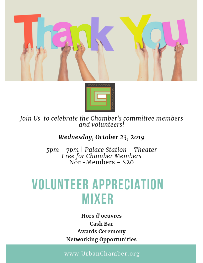 UCC Volunteer Appreciation Event. Wednesday, October 23, 2019 5 pm to 7 pm at the Regal Cinebarre in Palace Station