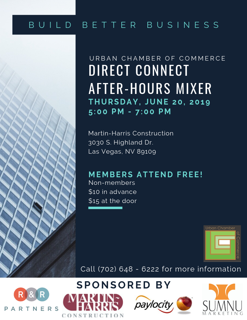 June Direct Connect Thursday June 20, 2019 Members attend free $10 in advance $15 at the door