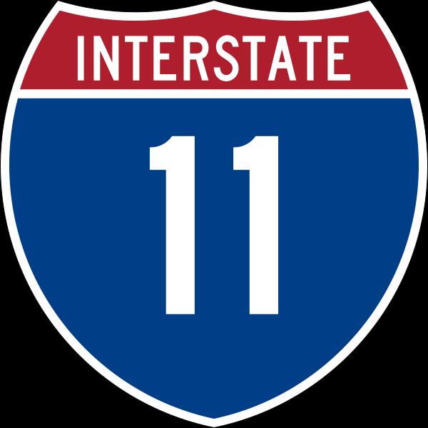 I-11 http://en.m.wikipedia.org/wiki/File:I-11.svg