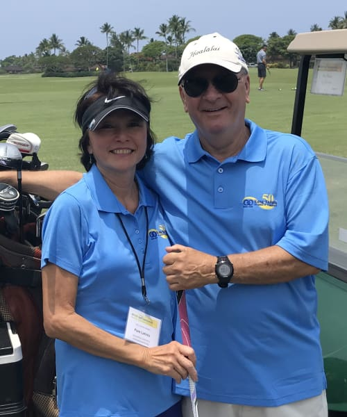 Kona-Kohala Chamber of Commerce Golf Tournament - Pam and Frank Latinis