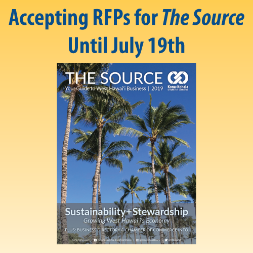 Magazine Art Director RFP for The Source, 2020 - Kona-Kohala Chamber