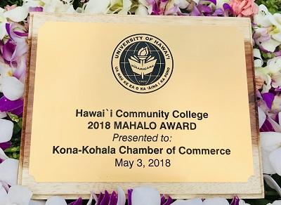 Mahalo Award goes to Chamber