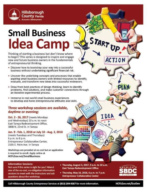 Small Business Idea Camp   Jul 17, 2018   Greater Riverview
