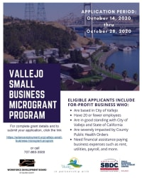 APPLY NOW! Vallejo's Small Business Micro Grant Program