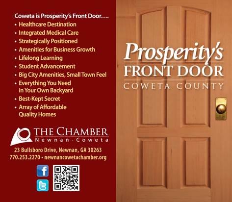Prosperitys Front Door Newnan Coweta Chamber Ga