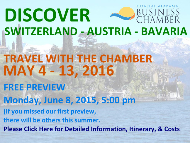 Travel With the Chamber in 2016