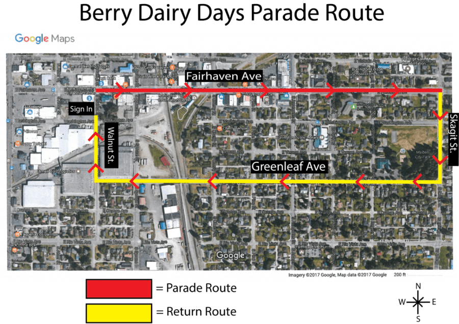 Parade-Route-google map view
