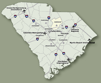 Kershaw County Map   Kershaw County Chamber of Commerce, SC