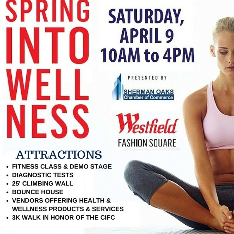 spring into wellness banner image sherman oaks westfield fashion square