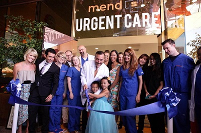 sherman oaks chamber of commerce, mend urgent caregrand opening, small business marketing, ribbon cutting