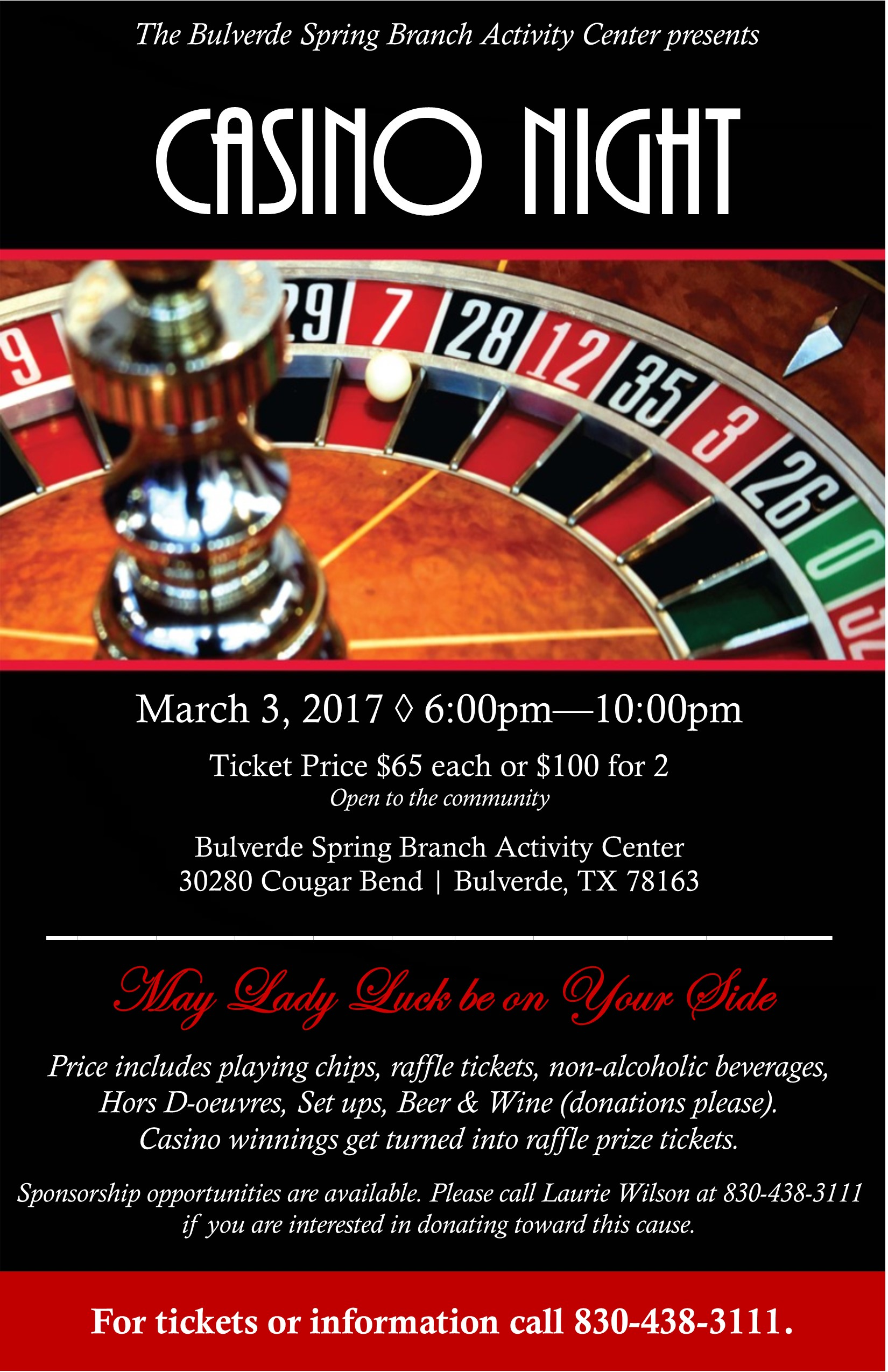 second annual casino night fundraiser benefiting the bsb
