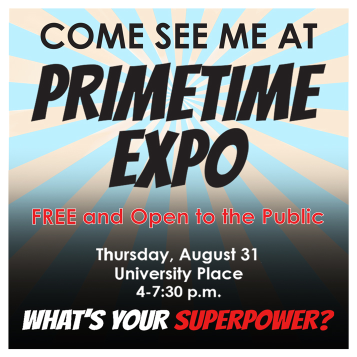Come see me at the #PRIMETIMEexpo Aug. 31
