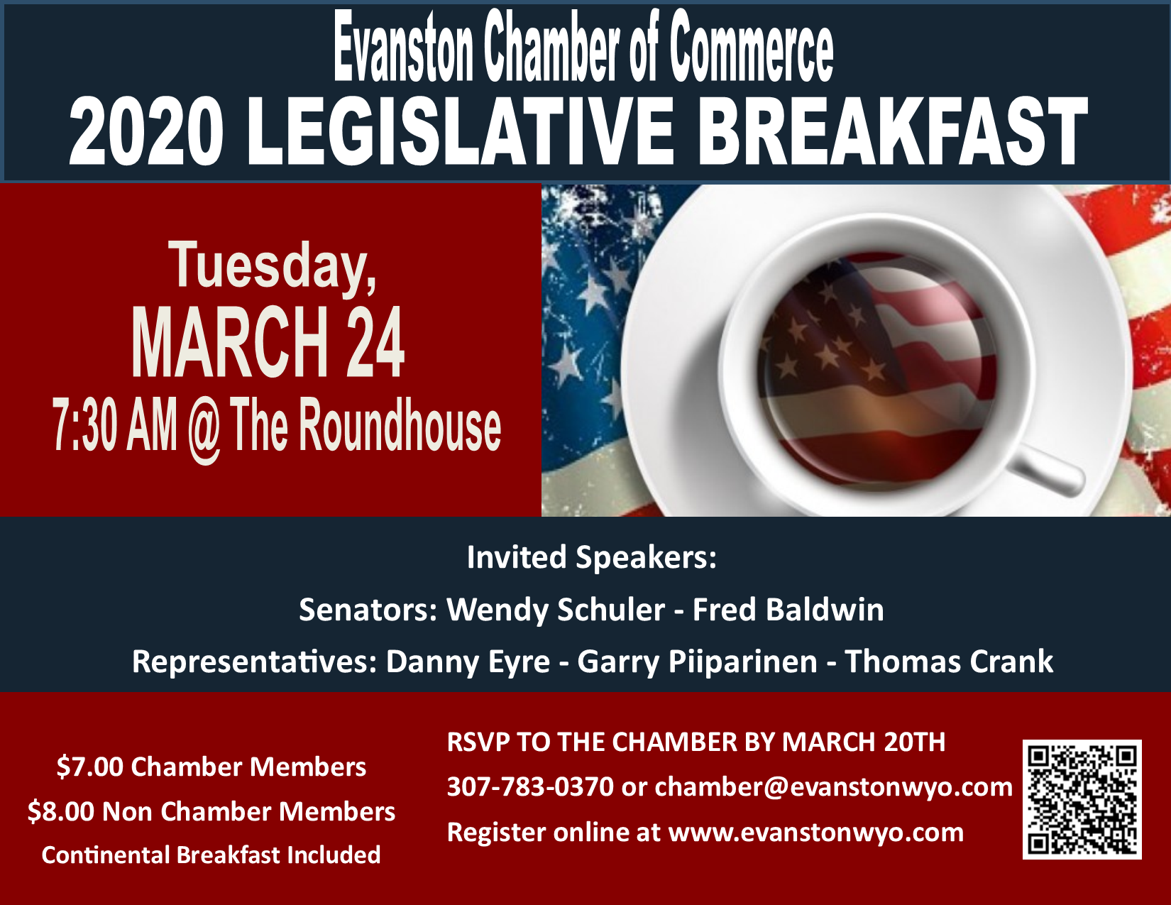Legislative Breakfast, Chamber of Commerce, Wyoming Legislature