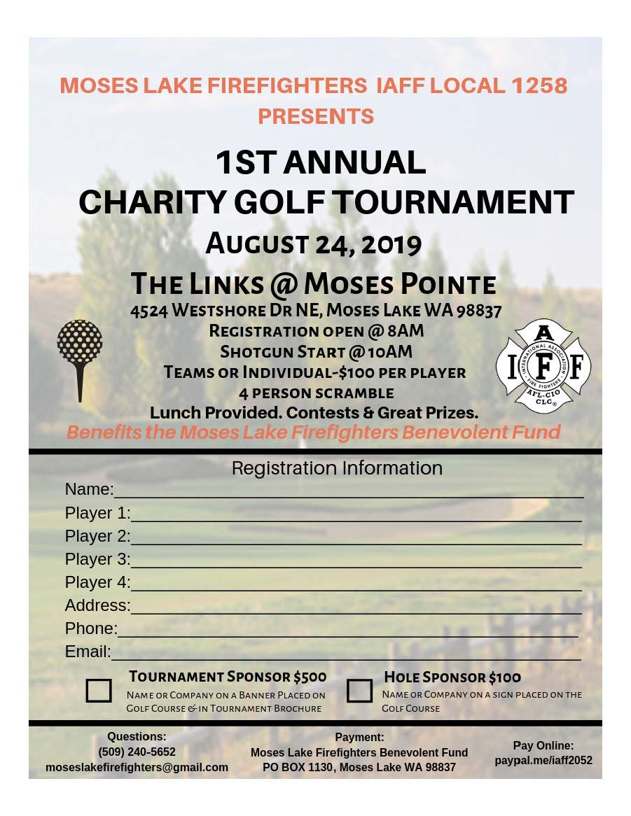 1st Annual Charity Golf Tournament for Moses Lake