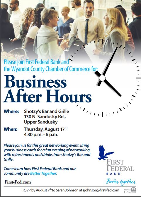 August 17, 2017 Business After Hours