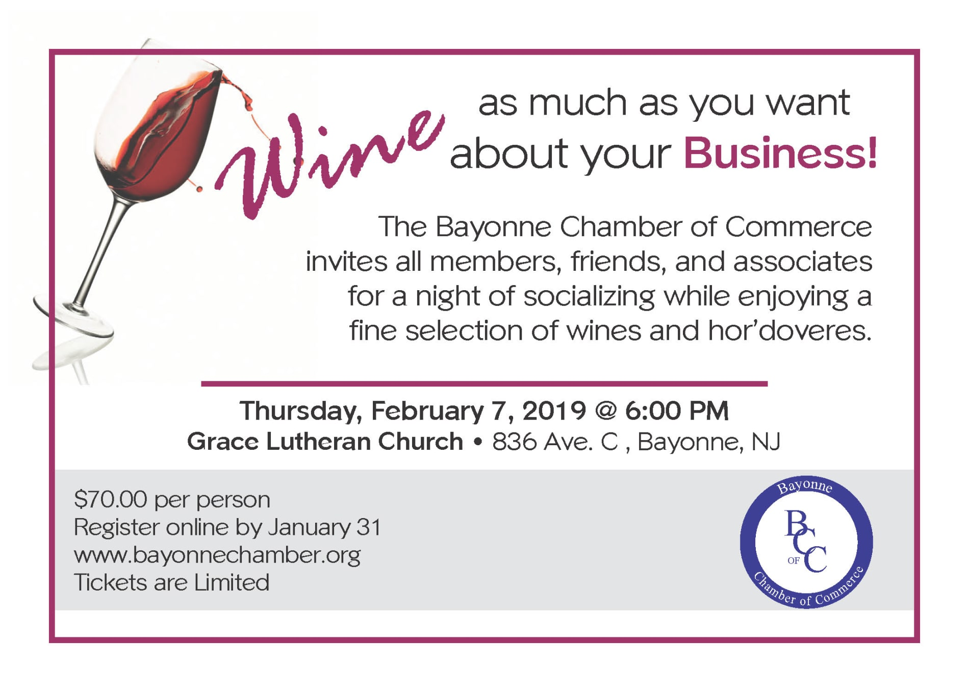 Wine for Bayonne business 2019