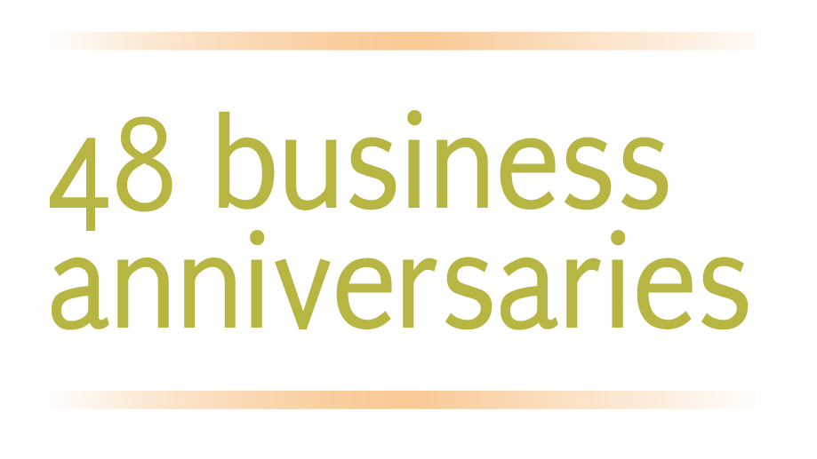 48 business anniversaries