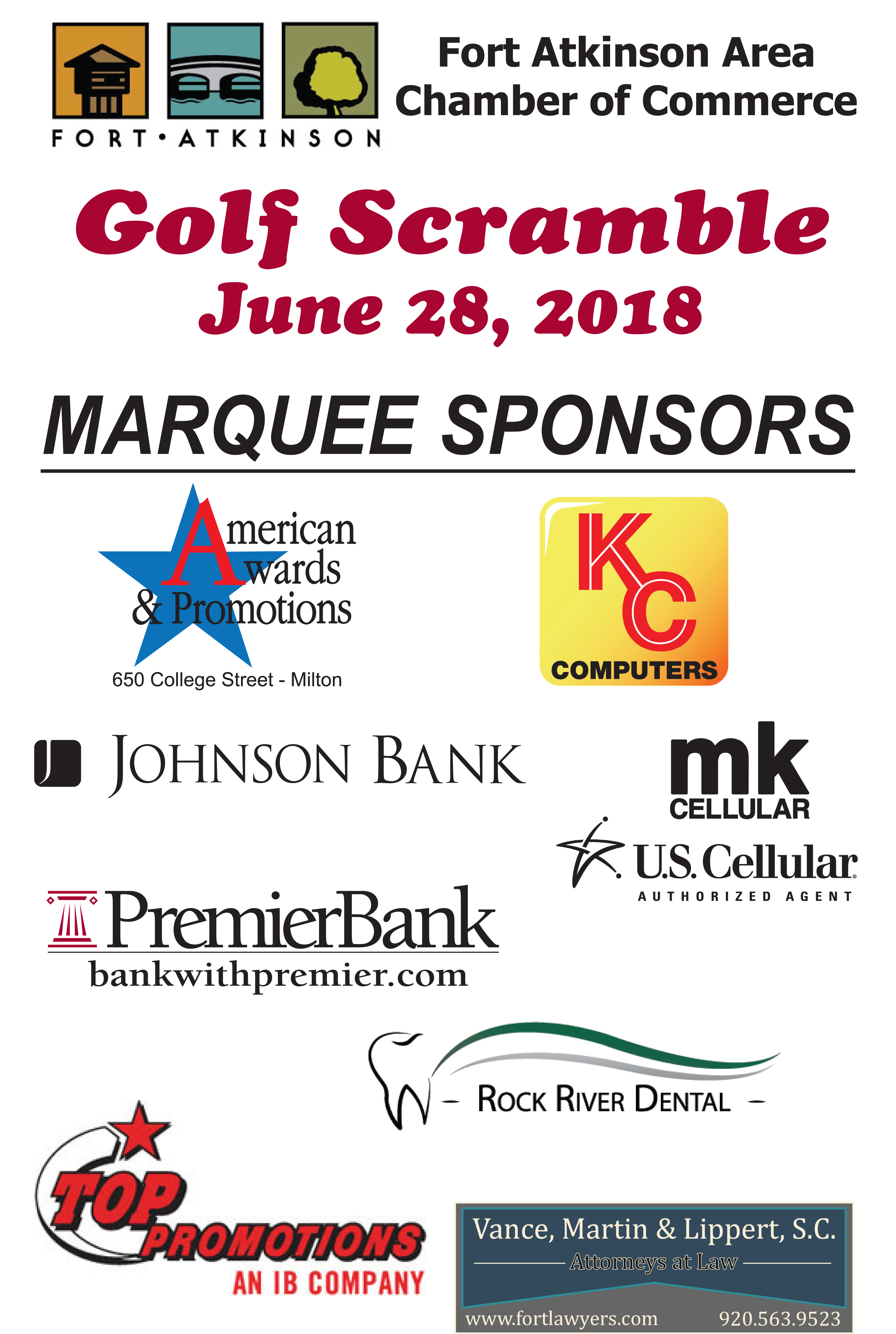 Marquee-Sponsors- 2018golf outing