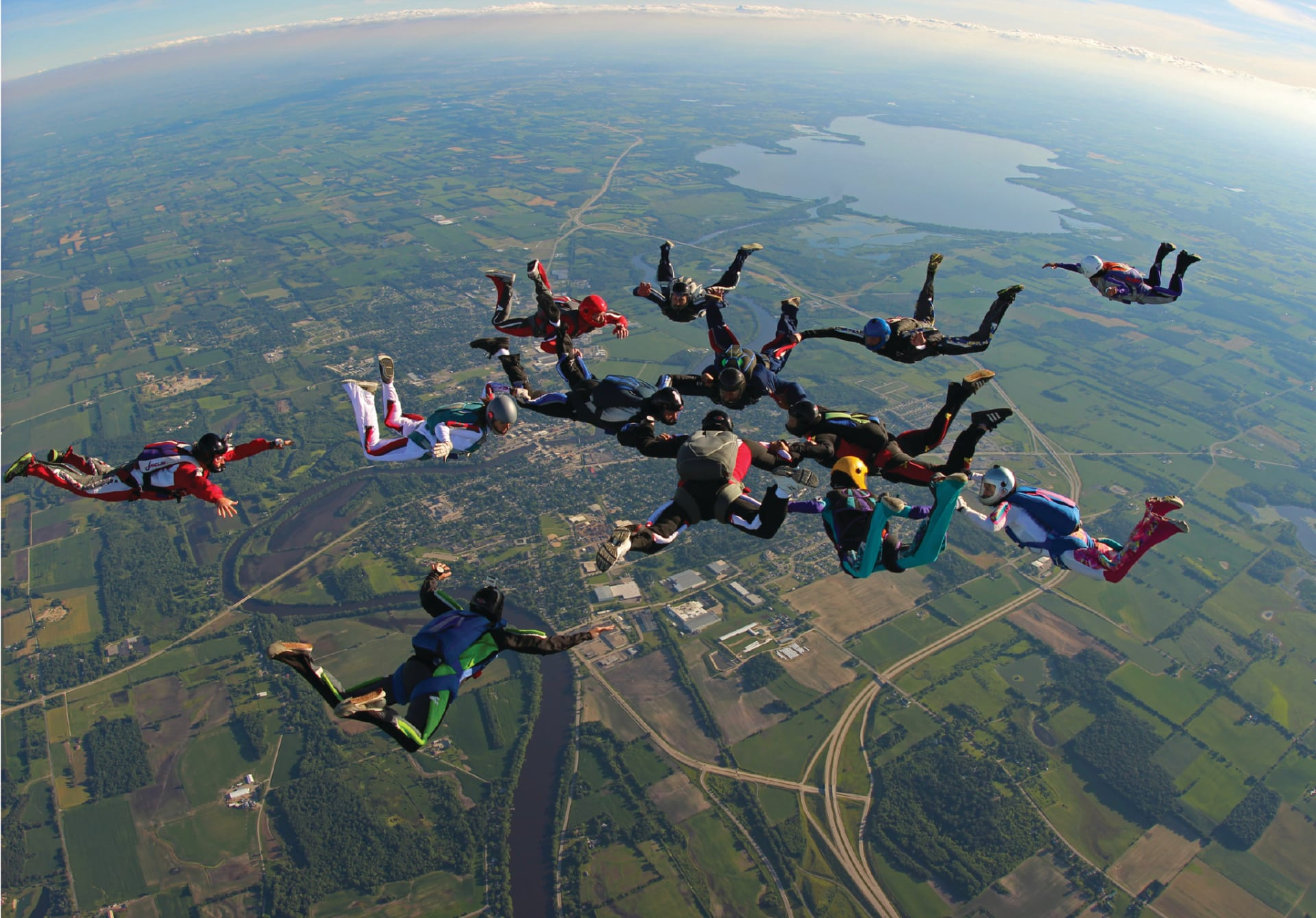 2. Skydiving