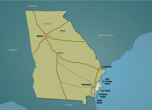 map-of-glynn-county-and-georgia