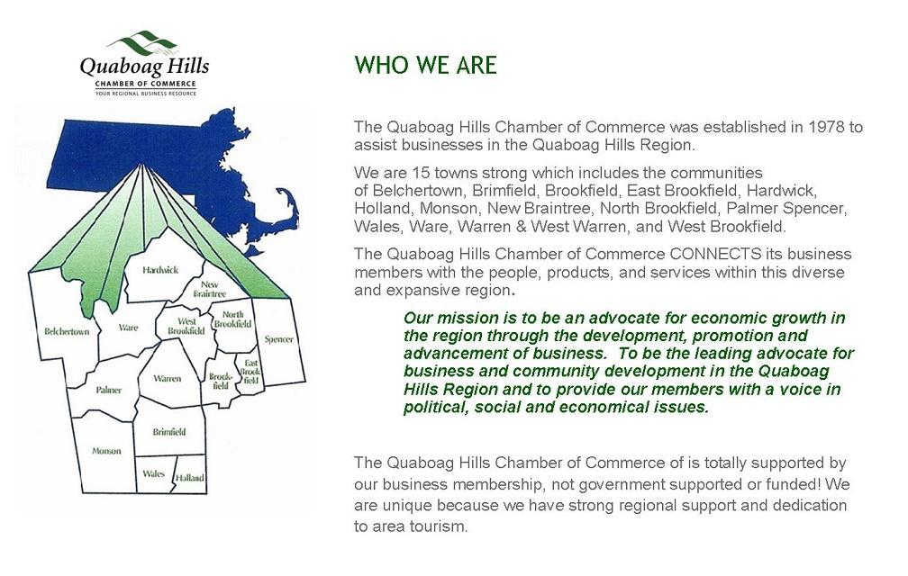 TOWN INFORMATION - Quaboag Hills Chamber of Commerce, MASSACHUSETTS