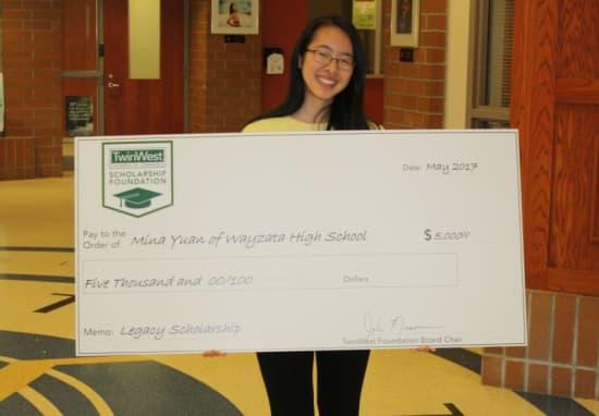 Mina Yuan, 2017 Legacy Scholarship Recipient